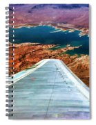 Above Lake Mead By Diana Sainz Spiral Notebook