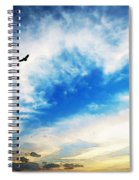 Above The Clouds - American Bald Eagle Art Painting Spiral Notebook