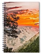 Above The Clouds - Paint Spiral Notebook