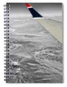 Above The Clouds Wing Tip View Sc Spiral Notebook