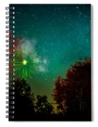 Above The Trees Below The Stars Celebration  Spiral Notebook