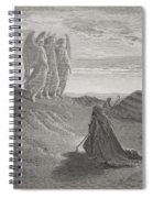Abraham And The Three Angels Spiral Notebook
