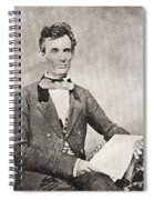 Abraham Lincoln, 1809 – 1865, Seen Here In 1854.  16th President Of The United States Of America Spiral Notebook