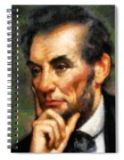 Abraham Lincoln - Abstract Realism Spiral Notebook