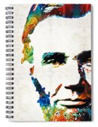 Abraham Lincoln Art - Colorful Abe - By Sharon Cummings Spiral Notebook