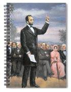 Abraham Lincoln Delivering The Gettysburg Address Spiral Notebook
