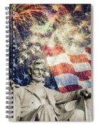 Abraham Lincoln Fireworks Spiral Notebook