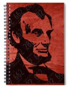 Abraham Lincoln License Plate Art Spiral Notebook