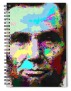 Abraham Lincoln Portrait - Abstract Spiral Notebook