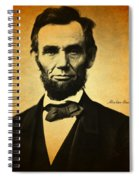 Abraham Lincoln Portrait And Signature Spiral Notebook