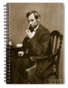 Abraham Lincoln Sitting At Desk Spiral Notebook