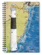 Absecon Lighthouse Nj Nautical Chart Map Art Cathy Peek Spiral Notebook