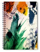 Abstract - Splashes Of Color Spiral Notebook