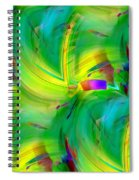 Abstract 019 Spiral Notebook