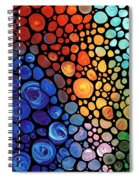 Abstract 1 - Colorful Mosaic Art - Sharon Cummings Spiral Notebook