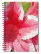 Abstract 106 Pink Painterly Flowers Spiral Notebook