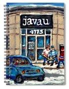 Montreal Art Exhibit At Java U Carole Spandau Montreal Street Scenes Paintings Hockey Art  Spiral Notebook