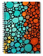 Mosaic Art - Abstract 3 - By Sharon Cummings Spiral Notebook