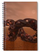 Abstract 331 A 3d Copper Sculpture Spiral Notebook