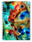 Abstract 4 - Abstract Art By Sharon Cummings Spiral Notebook