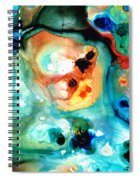 Abstract 5 - Abstract Art By Sharon Cummings Spiral Notebook
