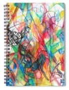 Abstract Art Focused Inward Towards The Divine 4 Spiral Notebook