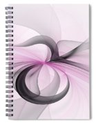 Abstract Art Fractal With Pink Spiral Notebook