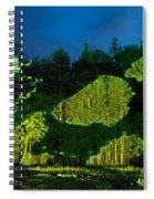 Abstract Art Projection Over Night Nature Scenery Spiral Notebook