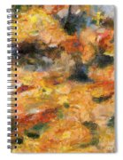 Abstract Autumn 1 Spiral Notebook