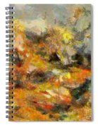 Abstract Autumn 2 Spiral Notebook