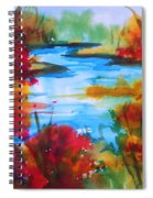 Abstract - Autumn Blaze On Catskill Creek Spiral Notebook
