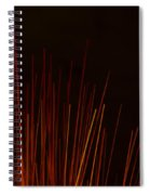Abstract Background Of Red Sticks Spiral Notebook