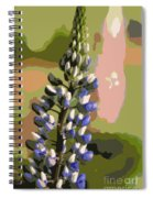 Abstract Blue Lupine Spiral Notebook