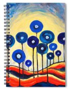 Abstract Blue Symphony  Spiral Notebook