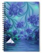 Abstract Blue World Spiral Notebook
