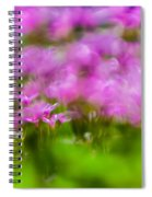 abstract Blurry pink flower background for backgrounds Spiral Notebook