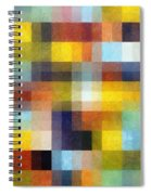 Abstract Boxes With Layers Spiral Notebook