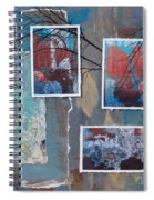 Abstract Branch Collage Trio Spiral Notebook