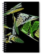 Abstract Bugs Life Horizontal Spiral Notebook