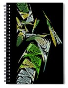 Abstract Bugs Vertical Spiral Notebook