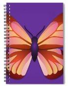 Butterfly Graphic Orange Pink Purple Spiral Notebook