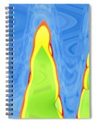 Abstract By Photoshop 12 Spiral Notebook