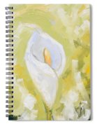 Abstract Calla Lily Spiral Notebook