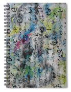 Abstract Calligraphy 00 Spiral Notebook