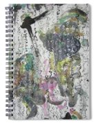 Abstract Calligraphy Art Painting Black Pink Green Gray Art Spring Color Painting Rice Paper Art Sjk Spiral Notebook