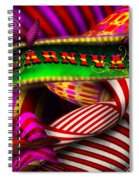 Abstract - Carnival Spiral Notebook