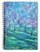 Abstract Cherry Trees Spiral Notebook