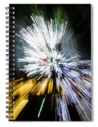 Abstract Christmas Lights - Burst Of Colors Spiral Notebook