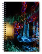 Abstract Christmas Lights - Color Twists And Swirls  Spiral Notebook