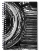 Abstract Chrome Spiral Notebook